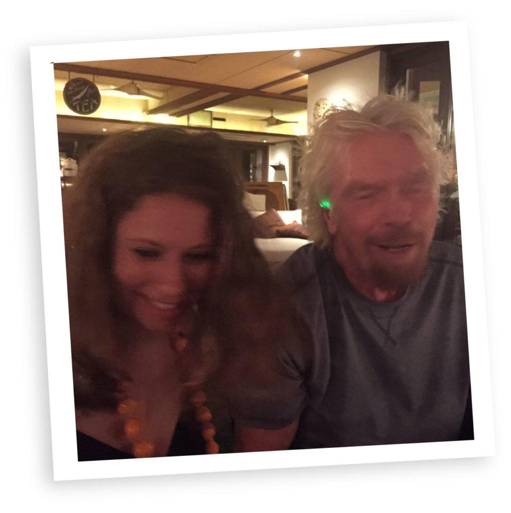 Gemma Manning with Richard Branson